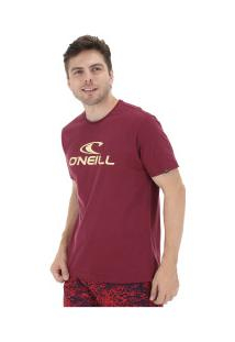Camiseta O'Neill Estampa Corporate - Masculina - Vinho