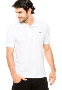 Camisa Polo Sommer Básica Bordado Branca
