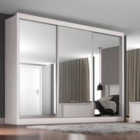 Guarda-Roupa Casal 3 Portas C  Espelho E 3 Gavetas Napoli - Móveis Europa aefd5e3bda
