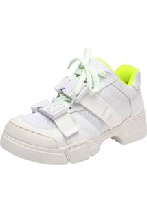 Tênis Amoha Neon Cool Branco - Verde Neon