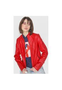 Jaqueta Forever 21 Lace Up Vermelha