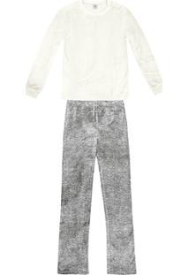 Pijama Longo Feminino Em Fleece