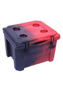 Caixa Térmica Cooler 15 Litros Vermelho E Preto Brudden Náutica