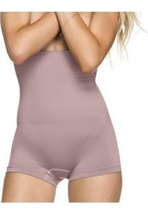 Calcinha Modeladora Boxer Sem Costura - Feminino-Roxo