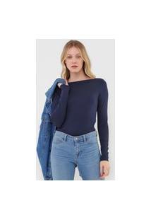 Blusa Gap Ls Mod Azul-Marinho