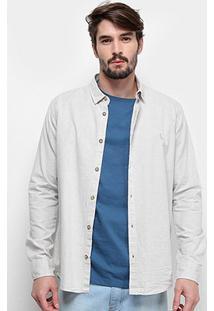Camisa Manga Longa Reserva Regular Chambray Masculina - Masculino-Lilás