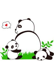 Adesivo Para Parede Panda 50X70Cm Com 1 Peça