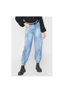 Calça Jeans Colcci Jogger Anitta Azul