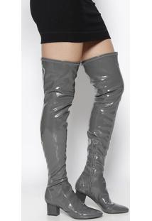 Bota Over The Knee Gabi Melange - Cinza - Salto: 6,5Le Lis Blanc