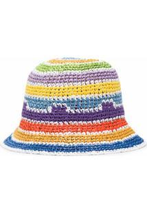 Missoni Chapéu Bucket Com Placa De Logo - Roxo