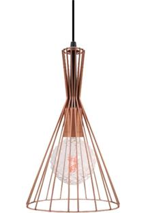 Pendente Aramado Cobre Com Lâmpada Filamento Led Conde G90 Sl2493 Toplux - Kanui