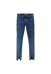 Calça Jeans Khelf Recorte Frontal Jeans