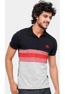 Camisa Polo Rg 518 Piquet Listras Masculina - Masculino