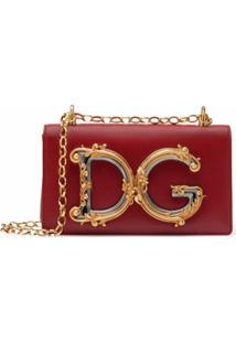 Dolce & Gabbana Bolsa Transversal Dg - Vermelho