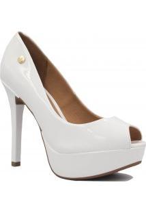 Sapato De Noivas Vizzano Peep Toe Verniz