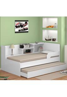 Bicama Solteiro Com Estante 0740 - Multimóveis - Branco