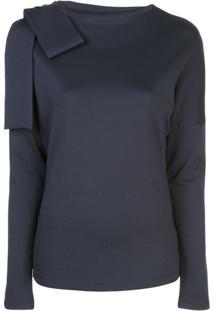 Victoria Victoria Beckham Blusa Com Laço - Azul