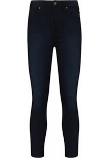 Paige Calça Cropped Cintura Alta Margot - Azul