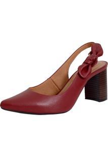 Scarpin Laura Prado Confort Laço Vermelho - Tricae