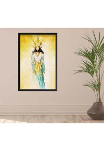 Quadro Love Decor Com Moldura Golden Woman Preto Médio