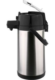 Garrafa Térmica Pressão Em Aço Inox 2,5 Litros Com Alavanca - Termopro