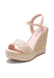 Sandália Sb Shoes Anabela Ref.3227 Nude