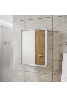 Espelheira Para Banheiro 1 Porta 29Cmx39Cm Astra Cromado