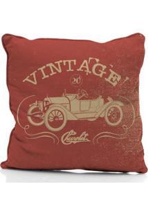 Capa De Almofada Em Poliéster Vintage Car Jalopy Chevrolet - Masculino-Vermelho