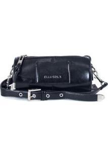 Bolsa Mini Bag Bowling Ellus Feminina - Feminino-Preto