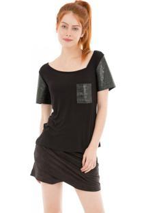 Camiseta Gola Assimétrica 41Onze Preta