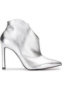 Ankle Boot Salto Fino Alto Metalizado