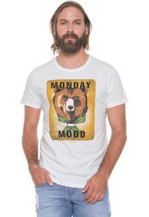 Camiseta Colcci Monday Mood Off-White