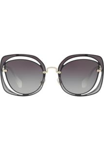 Miu Miu Eyewear Cutout Scenique Sunglasses - Azul