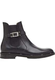Fendi Buckle Ankle Boots - Preto