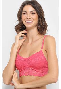 Sutiã Hope Top Rendado Sem Bojo - Feminino-Pink