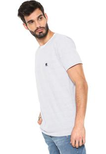 Camiseta Polo Wear Padronagem Mini Poá Branca