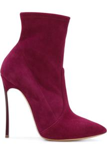 Casadei Ankle Boot De Couro - Rosa