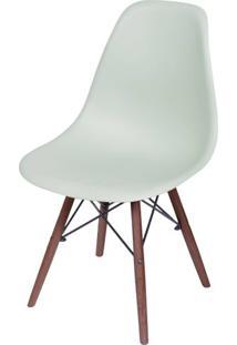 Cadeira Eames Polipropileno Verde Claro Fosco Base Escura - 49339 - Sun House