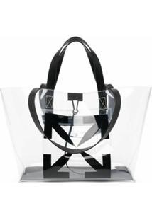 Off-White Small Arrow Tote Bag No Color Black - Preto