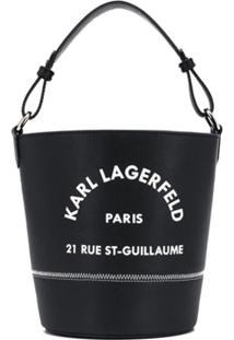 Karl Lagerfeld Bolsa Bucket Rue St Guillaume - Preto
