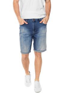 Bermuda Jeans Malwee Estonada Azul