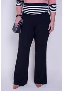 Calça Flare Malha Kauê Plus Size Feminina - Feminino