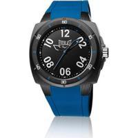 01b0505520a Relógio Pulso Everlast Bold E682 Com Pulseira Em Silicone -  Masculino-Preto+Azul