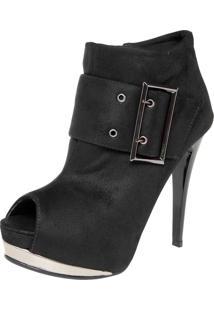 Ankle Boot Crysalis Fivela Preta