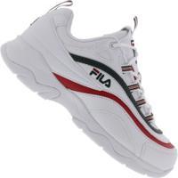 ee0efdec7cf Tênis Fila Ray - Masculino - Branco Vermelho Centauro