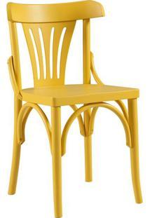 Cadeira - Madeira - Cor Amarelo - Ch108