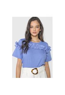 Camiseta Forum Babados Azul