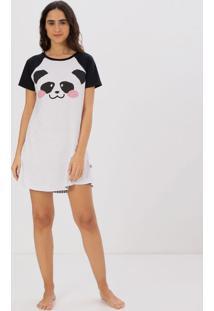 Camisola Manga Curta Estampa Panda