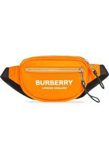 Burberry Pochete Com Estampa De Logo Pequena - Laranja