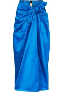 Marni Knotted Midi Skirt - Azul